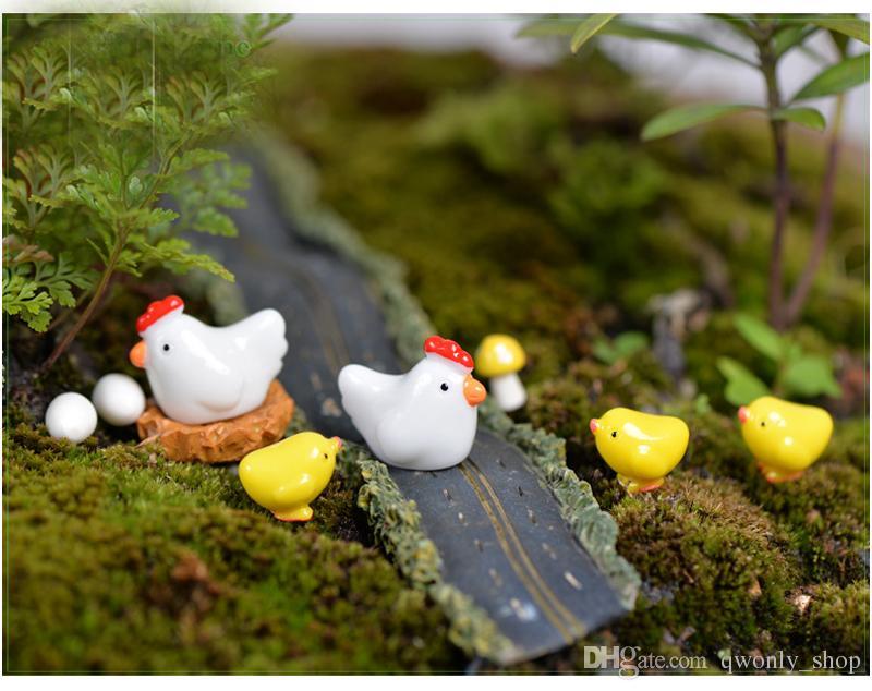Chicken Breed Hen Family Fairy Garden Miniatures Decor Terrarium Baison Tool Bottle Micro Landscape Gnomes Jardim Miniaturas