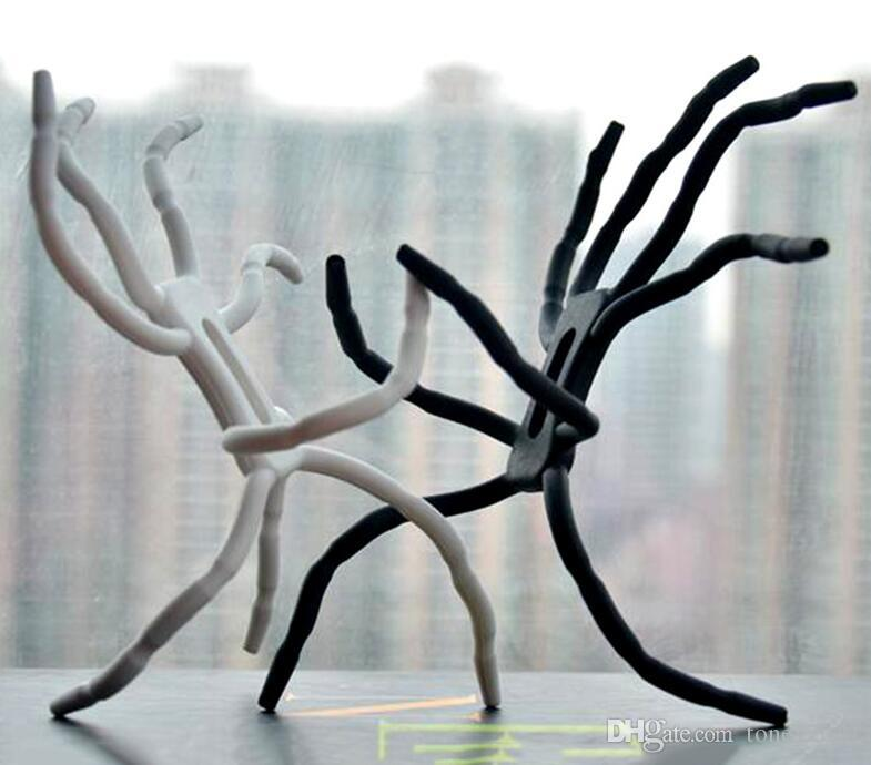 Universal Ever Changing Metal Silicone Spider 8 Legs Flexible Table Stand Mobile Phone Holder for iphone 7 7plus 6 6plus 8 8plus X