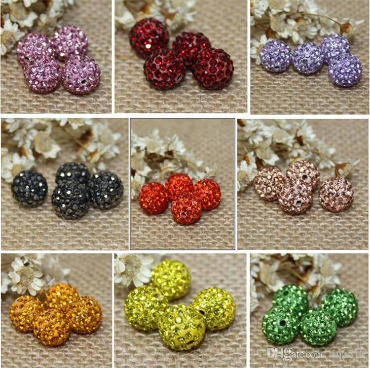 Jewelry & Accessories Just 10mm 50pcs Rose Loose Beads Clay Disco Ball Pave Crystal Shamballa Beads Jewelry Necklace Bracelets Making Diy Beads