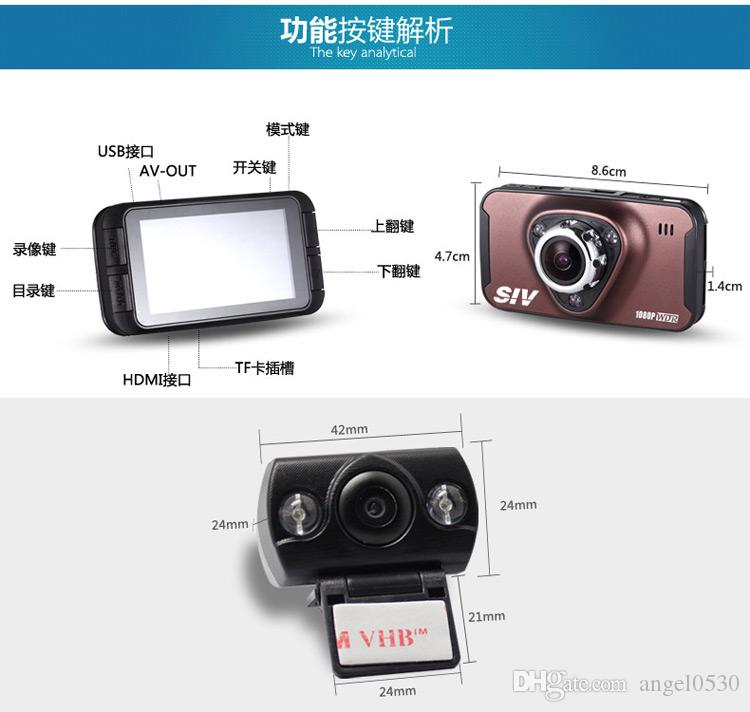 Newest CAR DVR Novatek 96655 Chipset 2.7 Inch 170 Degree Wide View Angle Motion Detection Dual Lens Car Camera Recorder