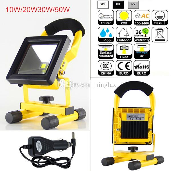 Battery powered rechargeable led floodlight 10w 20w 30w 50w ip65 battery powered rechargeable led floodlight 10w 20w 30w 50w ip65 outdoor use led flood work lights mini camping emergency light outside led flood lights mozeypictures