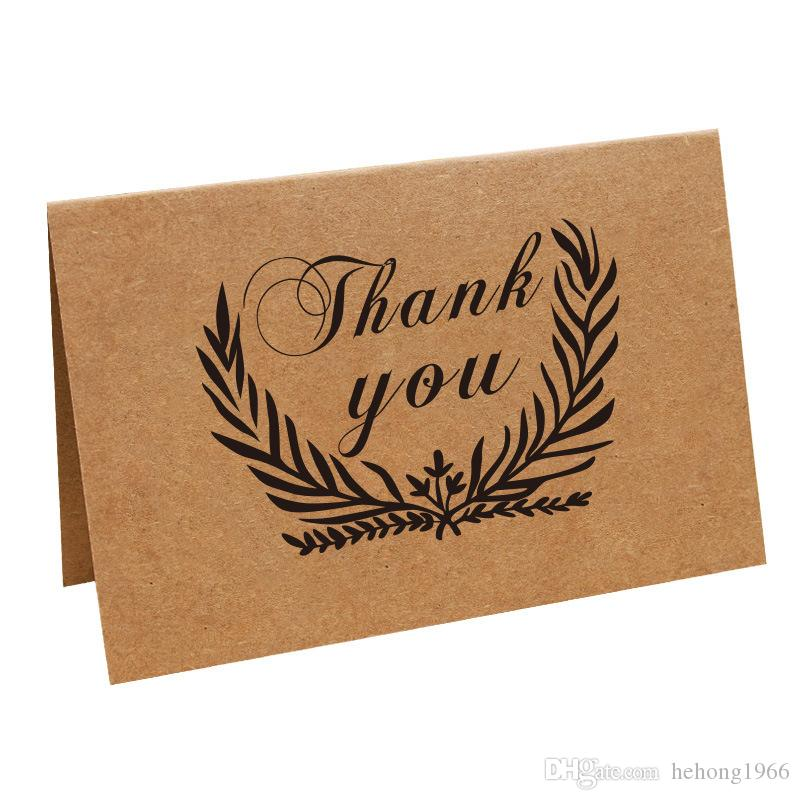 Thank You Card Many Styles Birthday Party Event Supplies Nostalgic Retro Kraft Paper Art Greeting Cards 0 7pn C R For Friends