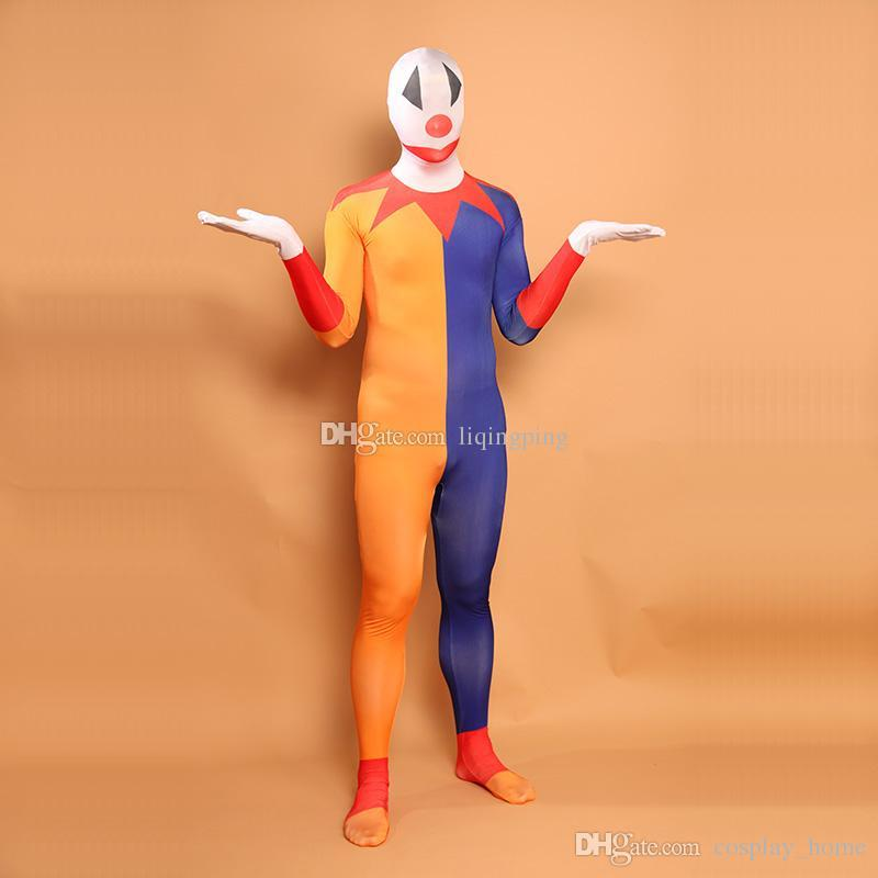 c8b1b73123b Halloween Clown Cosplay Costumes Mulitcolor Lycra Spandex Full Body Zentai  Suit For Unisex Online with  56.0 Piece on Cosplay home s Store
