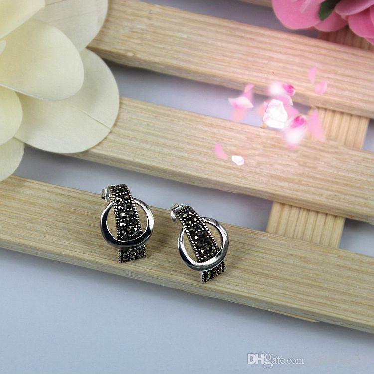 Modeschmuck 925 Sterling Silber Schmuck Push-Back Ohrstecker Silber Schmuck Ohrring Schmuck für Frauen und Männer