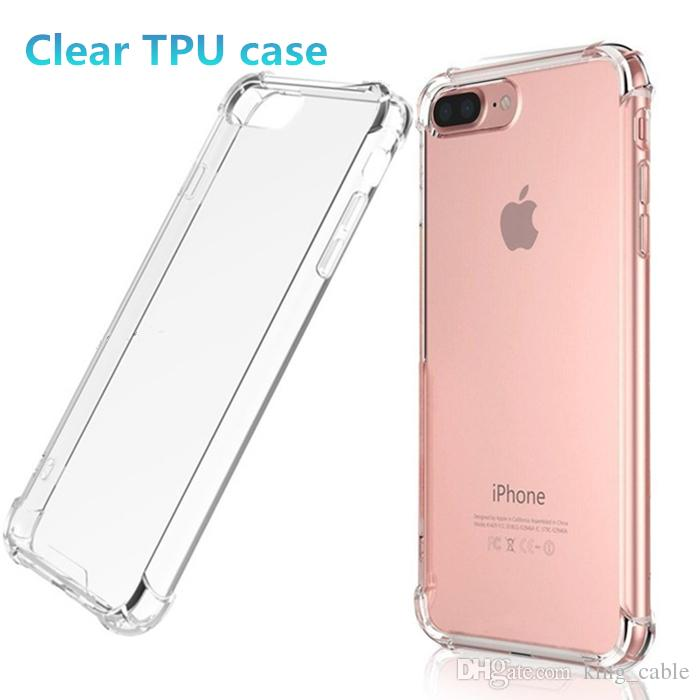 Ultra Thin For Iphone 7 Plus 8S Case Crystal Clear TPU Silicone Soft Cover Back Protect Rubber Phone Cases