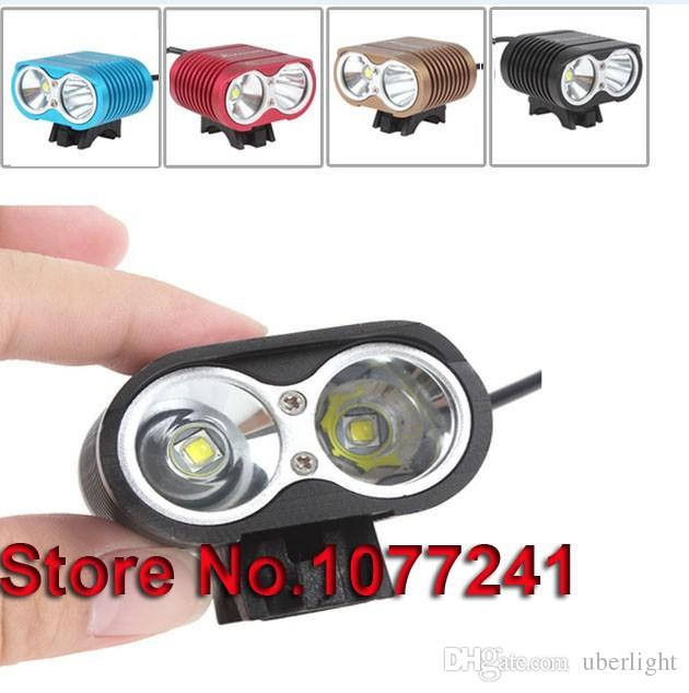 bicycle LED lamp bike Light 5000 Lumen 2 x Cree XML T6 U2 Bicycle head light LED front Lamp + 8.4V Battery Pack + Charger