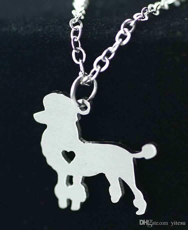 2016 внешней торговли ювелирные изделия Оптовая нержавеющей стали животных ожерелье любовь кулон ожерелье собака тег Pet пудель животных ожерелья