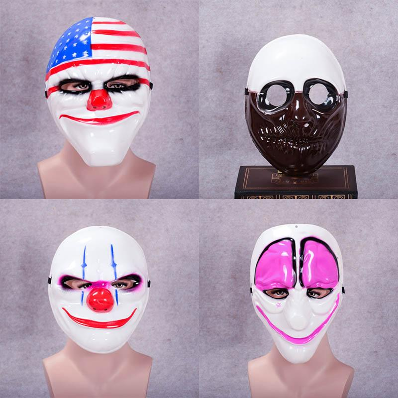 20PCS Halloween PAYDAY 2 Dallas Mask Heist Joker Costume Props Cosplay Mask