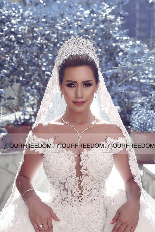 Nuevo 2019 Dijo Mhamad Sweetheart fuera del hombro Vestidos de novia Vestido De Novia De Encaje Sexy espalda abierta Apliques Encaje Vestidos de novia
