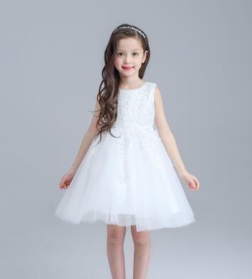 100% Positive Feedback Kids Girls Wedding Dress Hand Beading Party Dress  Sleeveless tutu Dress for Baby Girls Princess Dress eeb5d744b773