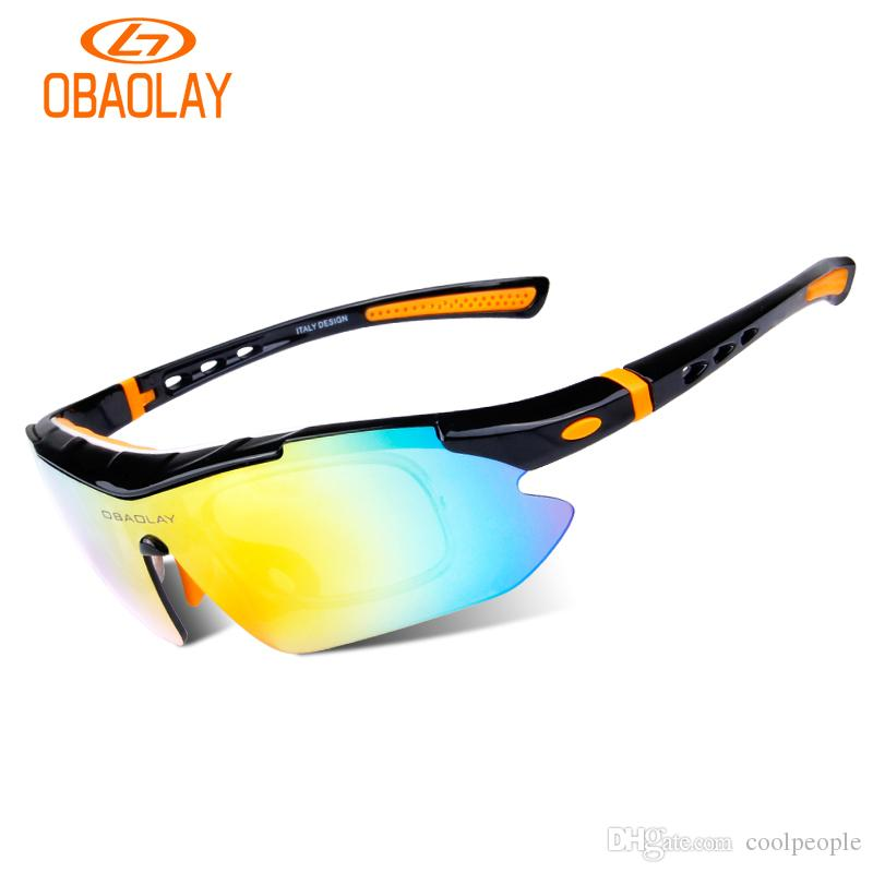 a3b8266c35 2019 Obaolay Polarized Cycling Sunglasses Sports Sunglasses Fishing Bike  Running Golf Hiking With Interchangeable 5 Lens