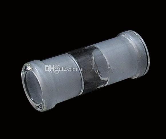 18.8mm femelle à 18.8mm femelle verre adaptateur verre huile plates-formes de forage de narguilé droites tuyaux tampons tampons fumer attachement verre verre eau