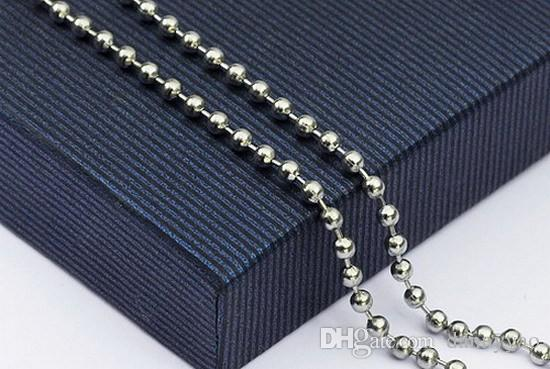 Wholesale 304 Stainless Steel Beaded Ball Chain Necklace Chains 45cm 50cm 60cm 70cm FN100