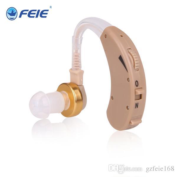 2019 nuevo diseño audífonos ocultos detrás de la oreja Dispositivo de escucha Sonido claro con larga vida útil de la batería Control de volumen Envío inmediato S-138