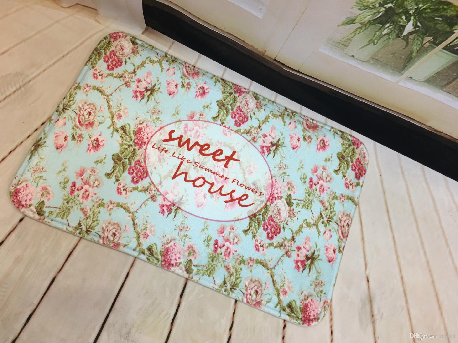 Homing Neu kommen Türmatten für Haustür-Zeichen Bunte Wörter gedruckt Teppiche Wohnzimmer-Staub-Beweis Mats Home Decor WX9-93