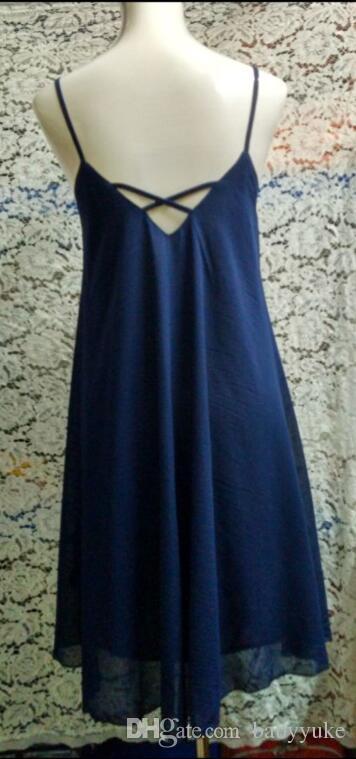 Sexy Casual Robes Waves robe harnais Robe à bretelles robes femmes d'été La robe de soirée définit une pièce z14