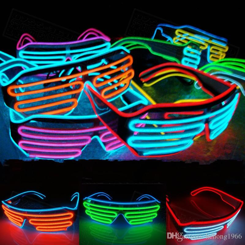 Sunglasses Luminous Toy Festive Props Carnival Festival Party Articles Cold Lights EL Wire LED Light Glasses Colourful 15oy KK