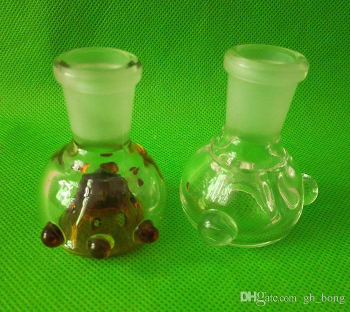 Spessa fodera in vetro colorato 14mm 18,8mm Femmina Giunto con 8 fori Nuovo design Bubber fumante di acqua Bong