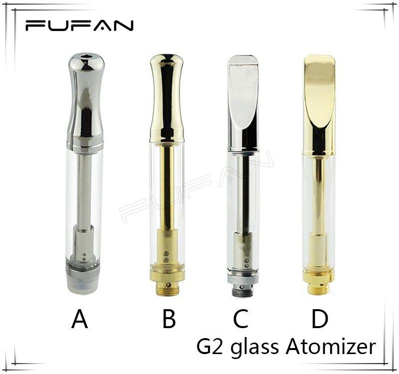 G2 Glass Atomizer Gold 510 Cartridge BUD Touch Metal Tip Vaporizer ...
