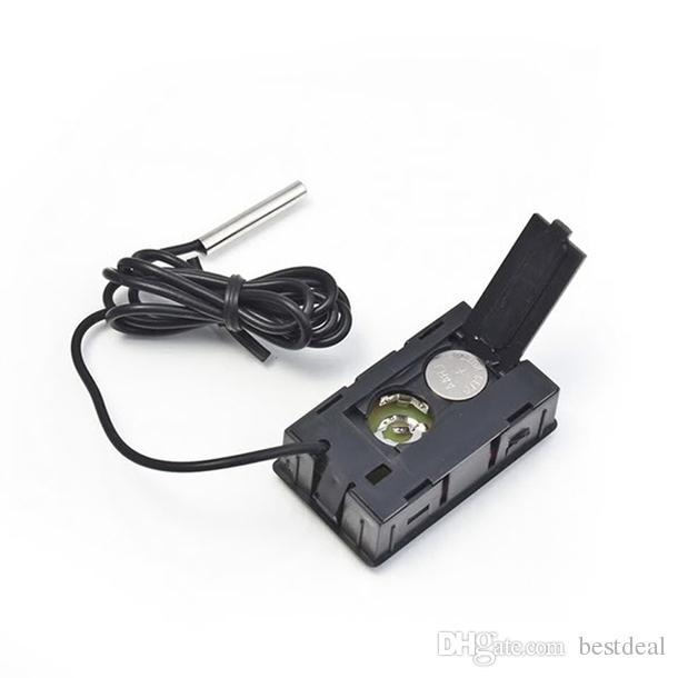 FY-10 Digital termometer Embedded Progressinal Mini LCD Temperatursensor Kylskåp Frys Termometer -50 ~ 110C Controller Svart / Vit 2018