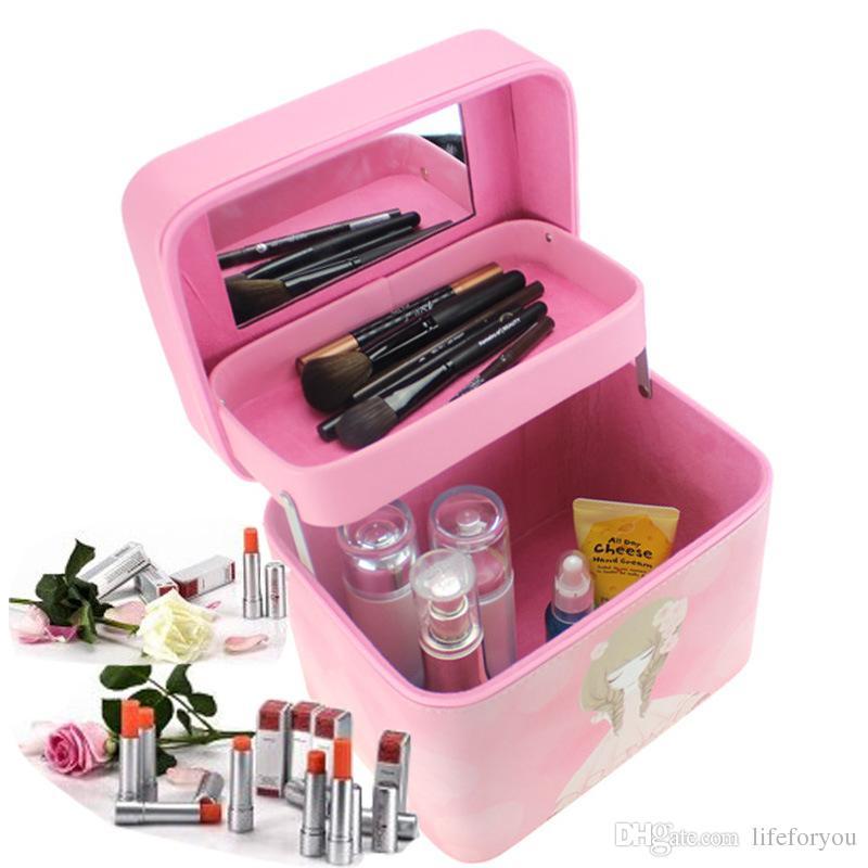 Qualifiziert Reise Mode Wasserdichte Kosmetische Fall Große Kapazität Tragbare Ladies Professional Make-up Tasche Organizer Lagerung Tasche Koffer Gepäck & Taschen Damentaschen