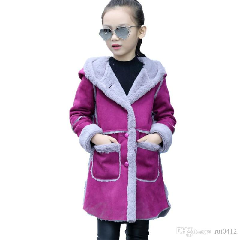 2fa8c49ad 2017 New Arrival Baby Girls Autumn Winter Suede Fabric Coat Kids ...
