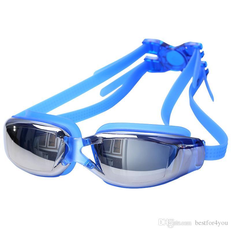 e810b4fe1 Compre Atacado Óculos De Natação Óculos Profissional Anti Fog Óculos De  Proteção À Prova D  Água UV Óculos De Natação Óculos 5 Cores Elegante  Confortável De ...