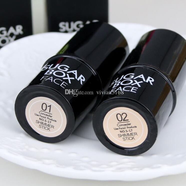 Sugar Box Face Highlighter Sticker All Over Shimmer Highlighting Powder Creamy Texture Water-proof Silver Shimmer Light