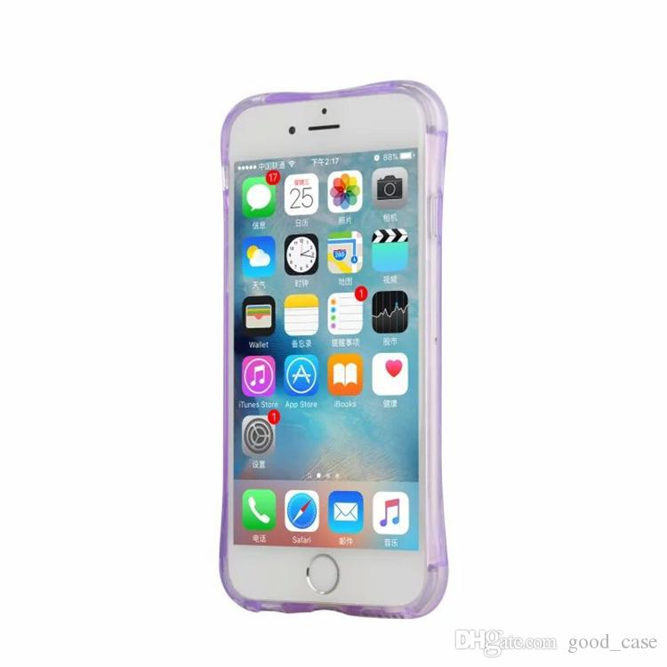 For iphone 7 case Incoming Calls Flash Up LED Light Cases small waist Transparent Clear Cover For iphone 5s se 6s 7 plus Samsung note 5 s7