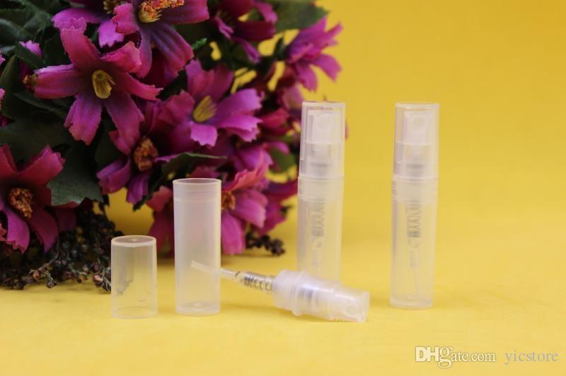 Botella de perfume de plástico de 2 ml botella de pulverización de la botella de perfume de perfume de perfume Atomizador de la bomba recargable Rociador de la bomba portátil Envío gratis