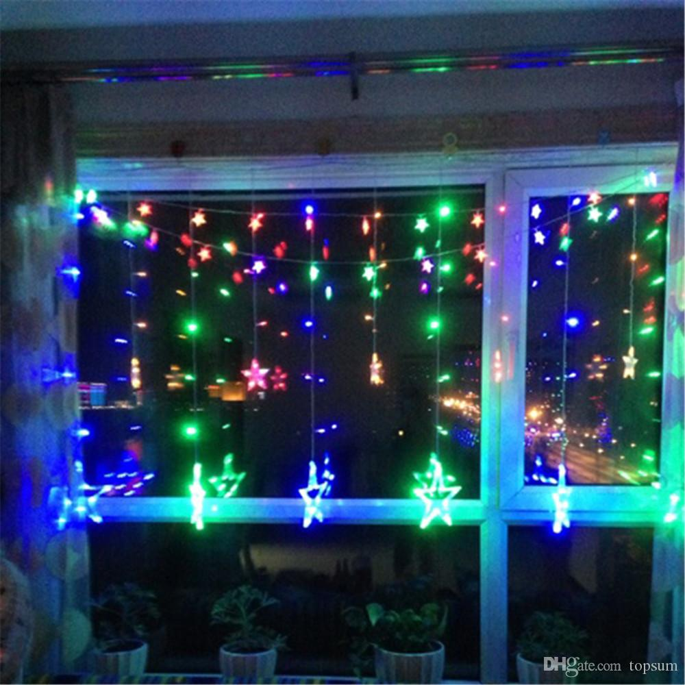 xmas garden decorative wedding star string lighting fairy garlands home outdoor holiday waterproof christmas lights easter string lights christmas led