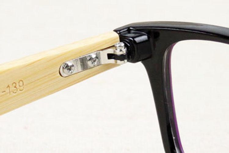 Gözlük Kadınlar Erkekler Şeffaf Gözlük Bayan Optik Temizle Lensler Erkek Vintage Gözlük Bayanlar Doğal Bambu Çerçeveler 5J0T52 İçin Göz Çerçeveler Çerçeve