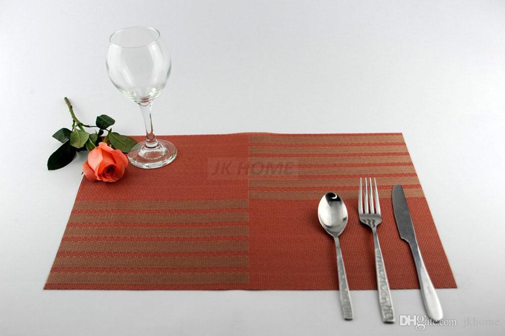 JANKNG / Роскошные коврики для стола Placemat 6 цветов Декорирование ПВХ Кухонные коврики для стола Dinning Clear Table Pads Clothing