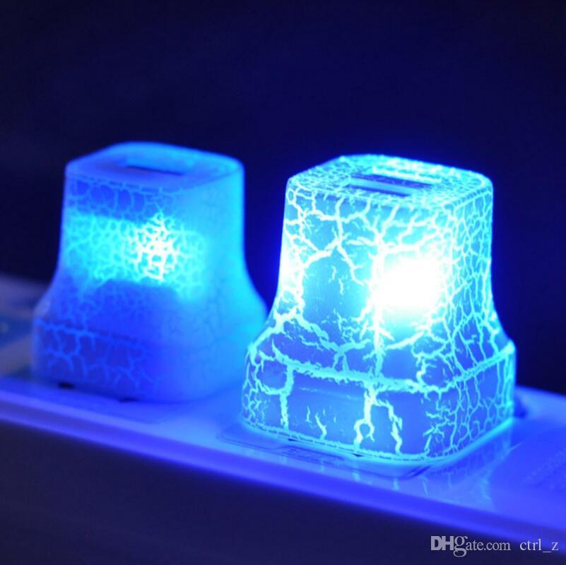 Işıklar ABD Plug Şarj 5 V / 1A Ev Seyahat Için AC LED AC Duvar Şarj Şarj Güç Adaptörü çatlak Şık