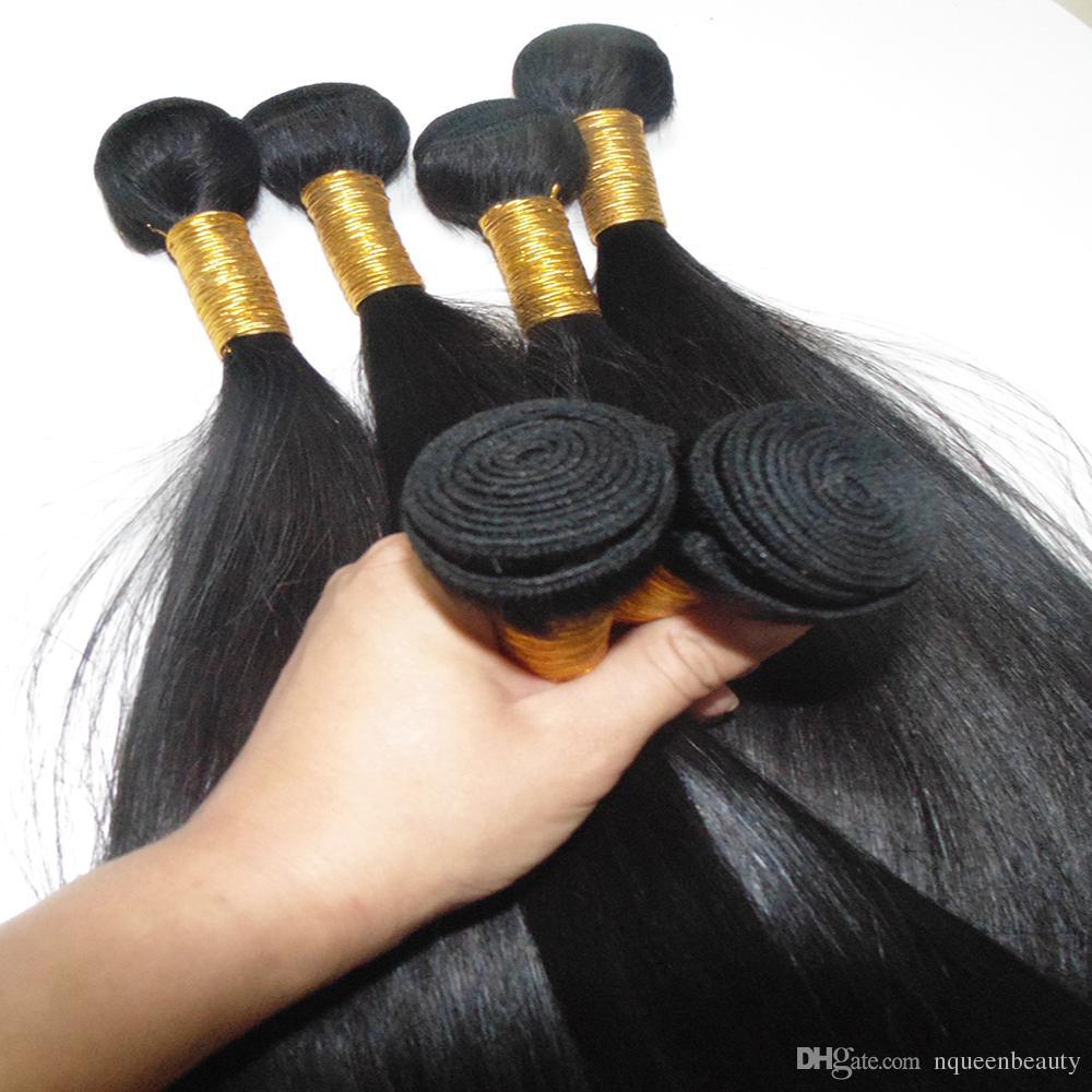 لون الشعر الطبيعي نسج / 100٪ هندي مزدوج مرسومة عذراء الشعر البشري العظام مستقيم