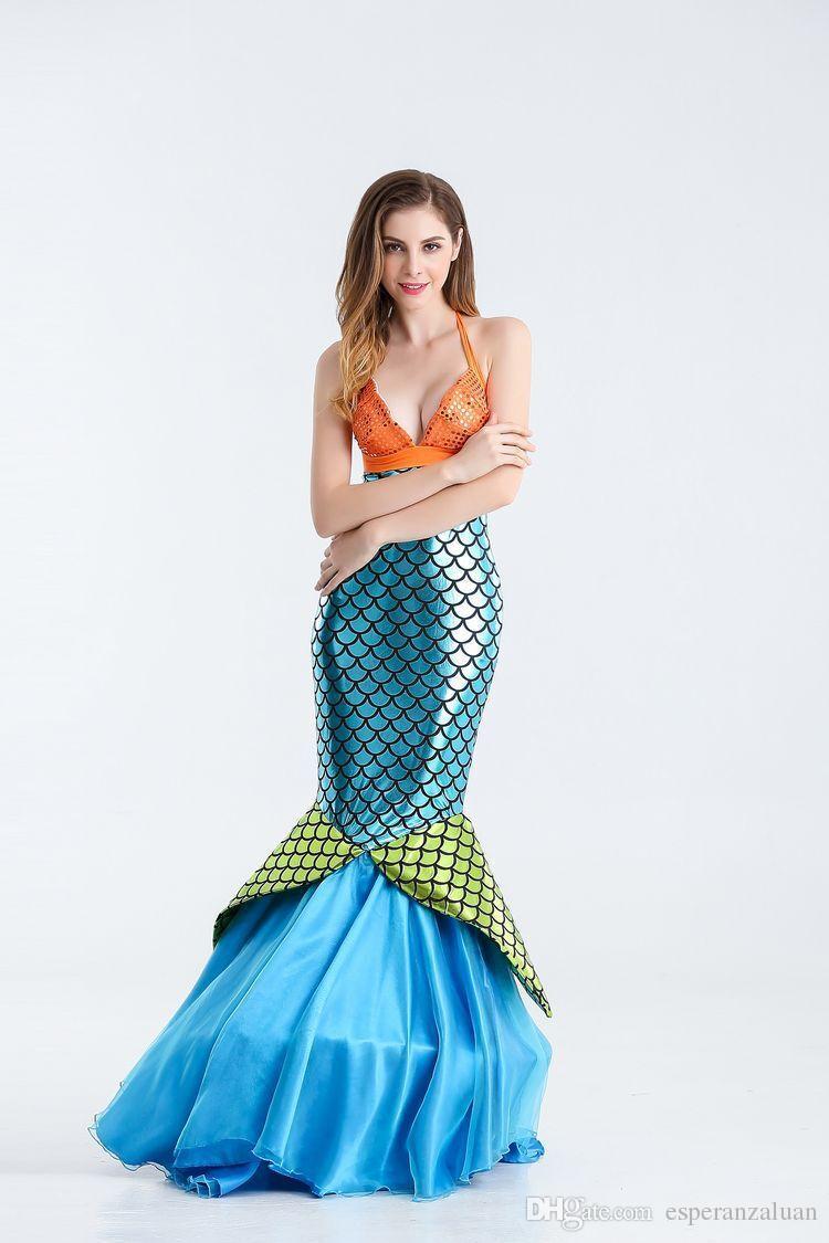 Fairy Tale Mermaid Fairy Costume Actress Halloween Party Cosplay ...
