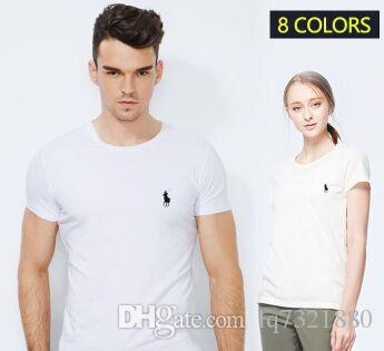 High Quality Fashion T-Shirt Small Horse Embroidery Design Summer Cotton Men O-neck Short Sleeve T Shirts Brand Clothing Tees Plus Size 5XL