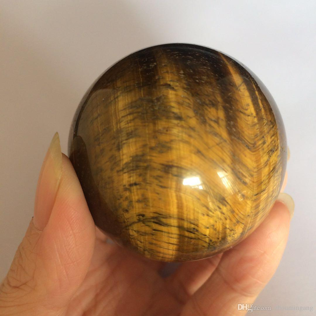 Wholesale natural tiger eye ball crystal stone polished quartz gemstone hand carved sphere healing Reiki quartz