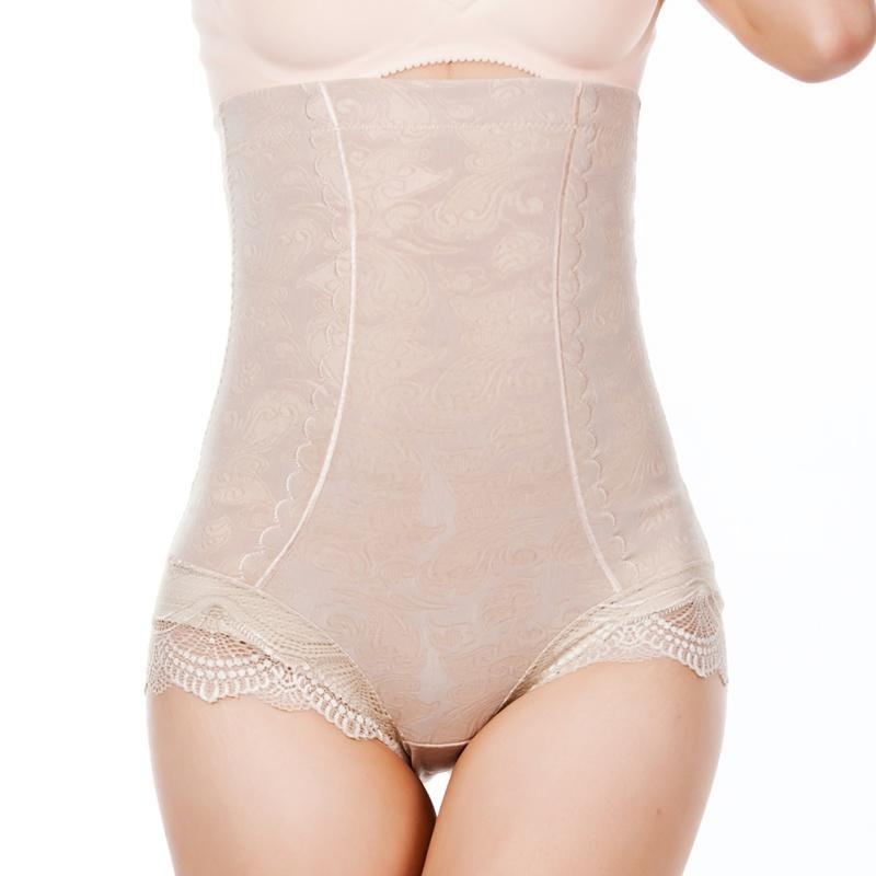 2624e6c1102 2019 Wholesale Women High Waist Control Panties Body Shaper Waist Trainer  Slim Shapewear Tummy Underwear Lace Florarl Panty From Baimu