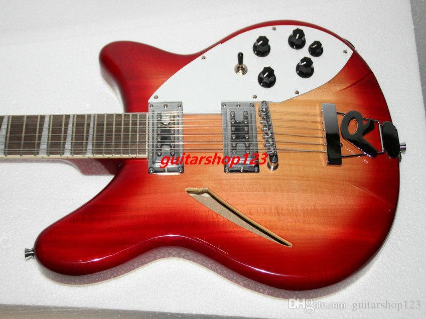YENI Kiraz Burst 12 Dizeleri 325 330 Elektro Gitar Toptan Gitar En Çok Satan 666