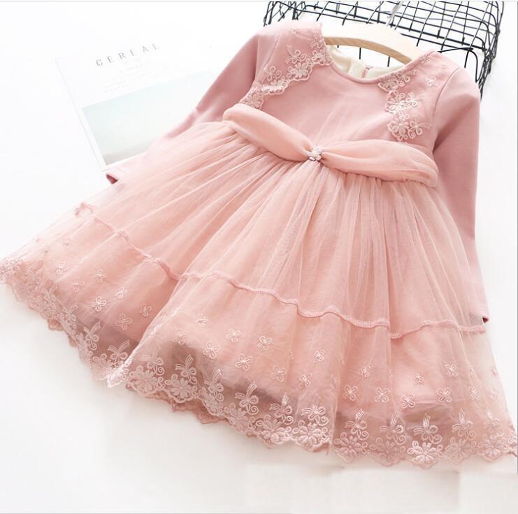 4cd9ed446c0c9 2017 Autumn Winter Girls Lace tutu Dresses Baby Clothing Baby Girl Princess  Floral Dress Kids Girls Long sleeve Party Dress