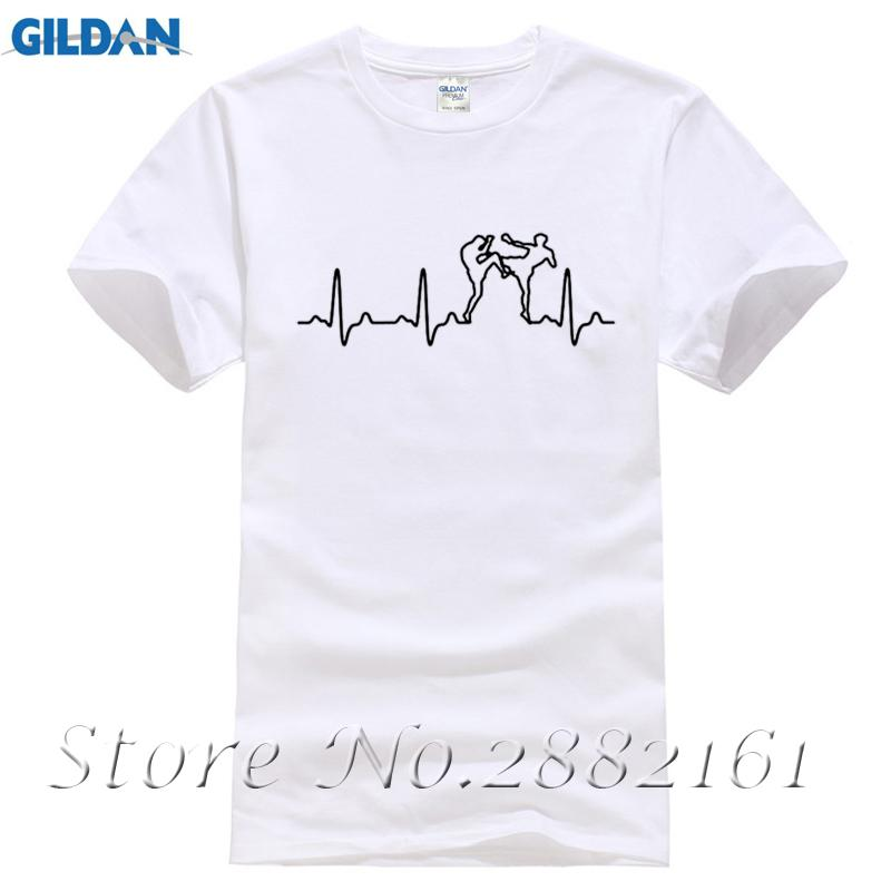 74e5a3335ba9 New Summer Style Funny T-Shirt Muay Thai Heartbeat Casual T-shirt ...