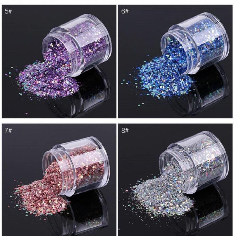 N2 F347 Nail Art Paillettes Gitter En Gros Manucure Décoration Paillettes Transfert Twinkle Coloré Paillettes Ongles