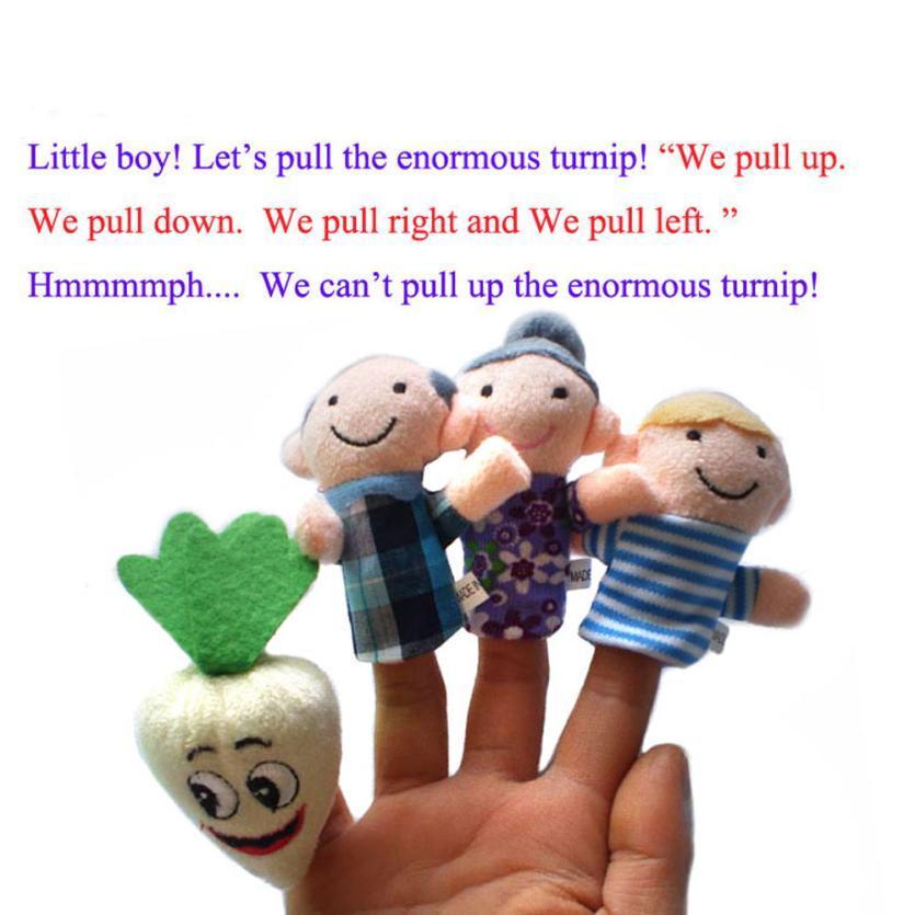 Finger Puppets baby toy Cartoon Animal family Puppet Toys para niños kidsfinger puppet baby girls boys regalo
