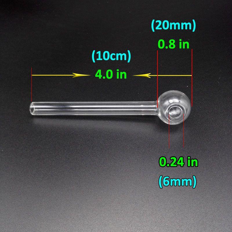 Mini 4.0inch Pyrex Glass Burner de Óleo Tubulação Cheater Clear Clear Blue Green Green Burner Tubos de Vidro Tubos Tabaco Acessórios Para Fumar Para Bongs De Água
