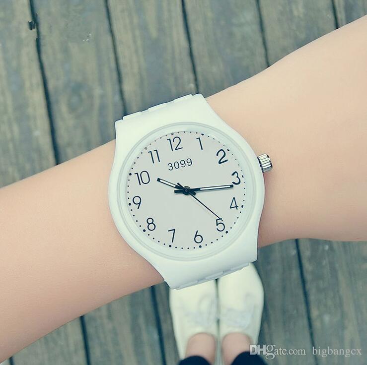 Qualitäts-Marken-Mode-einfache Süßigkeit-Farben-beiläufige Quarzuhr-Mann-Frauenpaar-Uhren Silikon-Sport-Armbanduhren