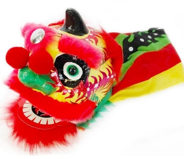 Livraison gratuite caractéristiques chinoises d'art faits à la main et l'artisanat cadeaux de décoration jouet lion danse Mini props Fist lion éviter le désastre 040