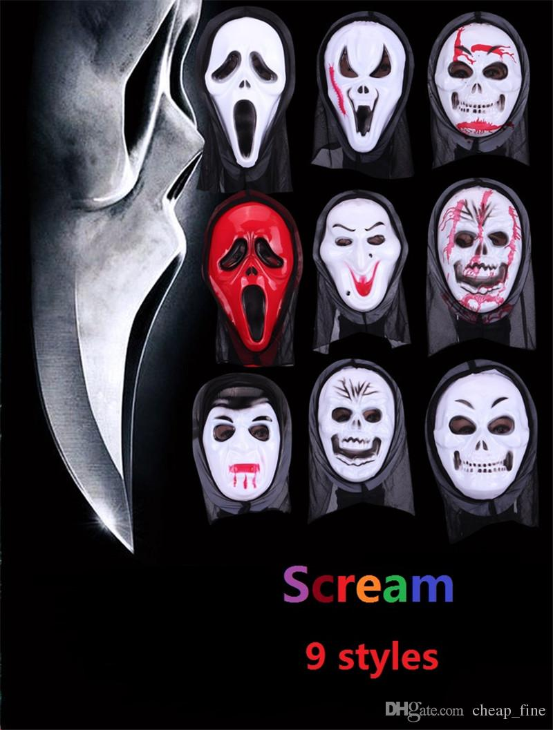 Halloween Mask Party Scary Mask Ghost Mask Scream Mask Costume ...