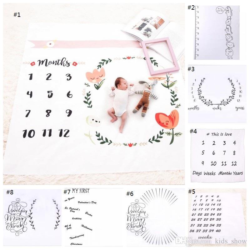 neonato fotografia sfondo oggetti di scena bambino foto prop tessuto fondali Pasqua infantile coperte avvolgere lettera coperta morbida insetto stuoia di stoffa bambino