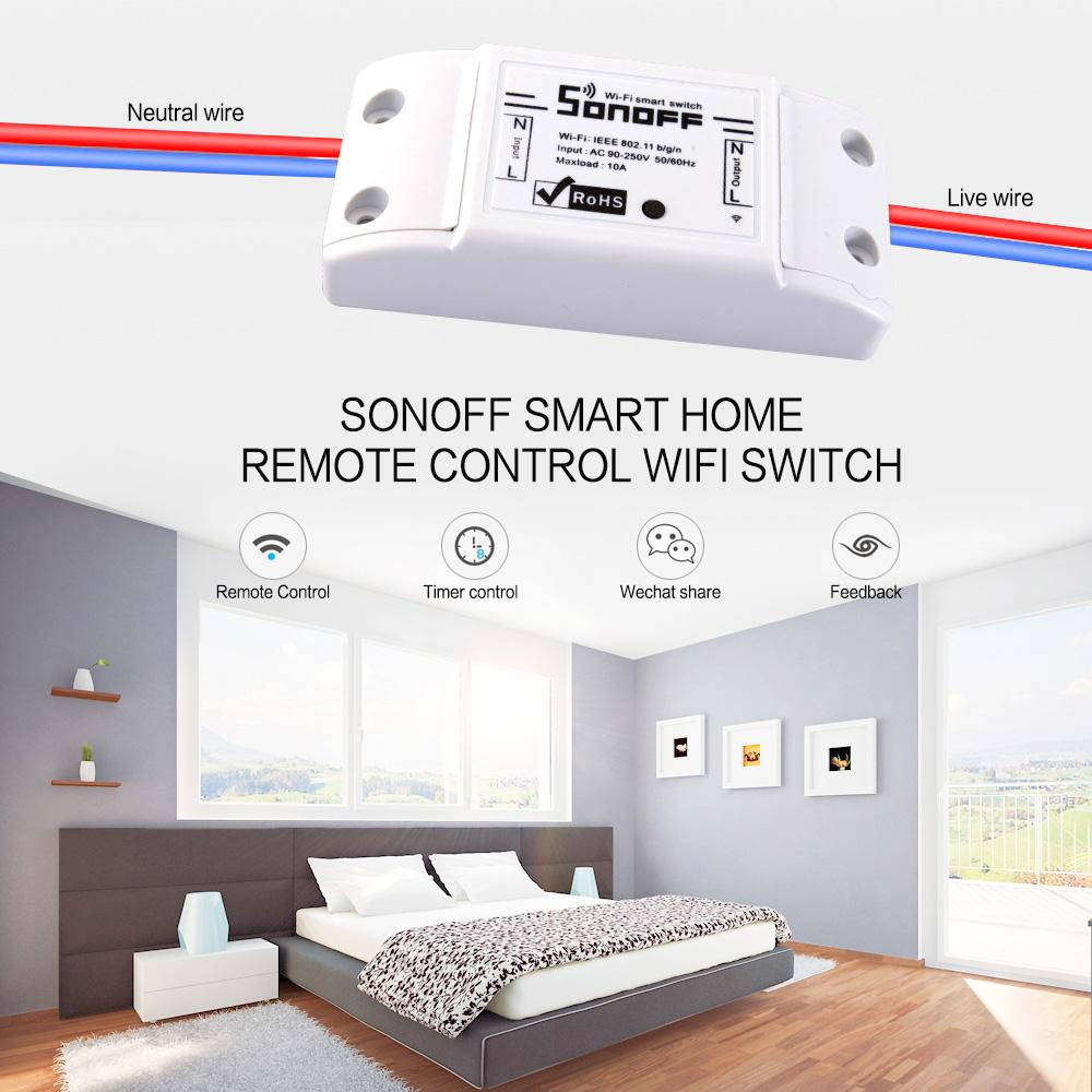 Sonoff Smart Home Remote Control Wifi Switch Smart Home Automation ...